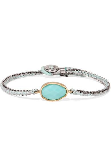 BROOKE GREGSON Orbit 14-karat gold, sterling silver and turquoise bracelet