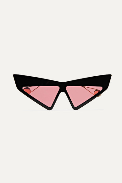 f8272e867a6 Gucci. Embellished cat-eye acetate and gold-tone sunglasses