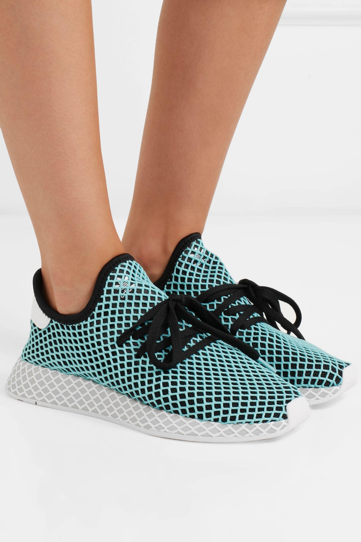 adidas Originals Baskets en résille à finitions en daim