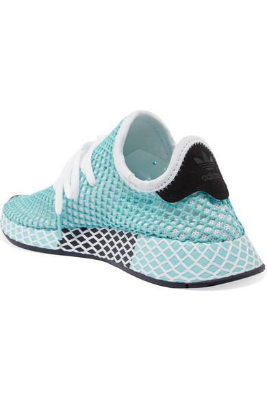 free shipping 10c75 337ba adidas Originals  + Parley Deerupt Runner suede-trimmed mesh