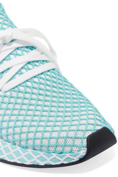quality design 0ac2b 41d1b adidas Originals. + Parley Deerupt Runner suede-trimmed mesh sneakers.  £120. Zoom In