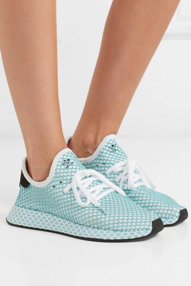 eca3f393f19f8 adidas Originals. + Parley Deerupt Runner suede-trimmed mesh sneakers