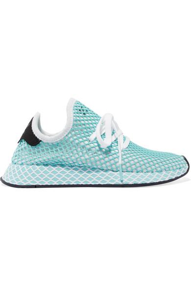 newest bde7f 5e221 adidas Originals  + Parley Deerupt Runner suede-trimmed mesh sneakers   NET-A-PORTER.COM