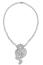 Chopard 18-karat white gold diamond necklace