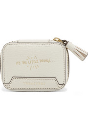 Anya Hindmarch Keepsake small embossed textured-leather case