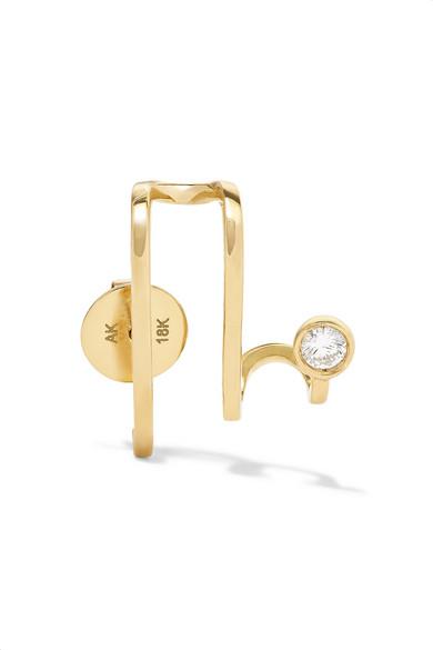 ANA KHOURI Amelie 18-karat gold diamond earring