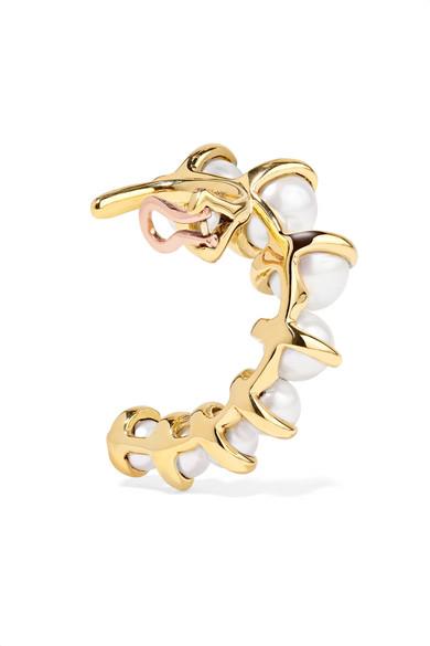 Marie 18-karat Gold Pearl Ear Cuff - L Ana Khouri ur01YP