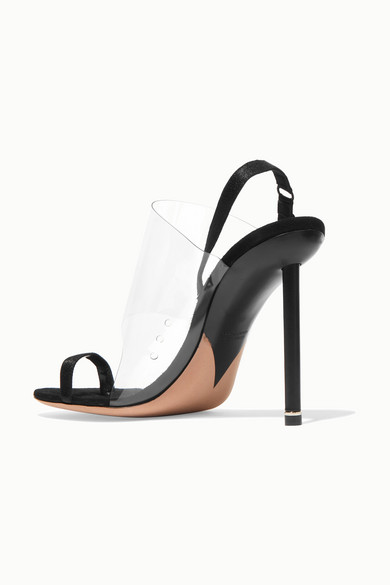 Alexander Wang Sandals Kaia PVC and suede slingback sandals