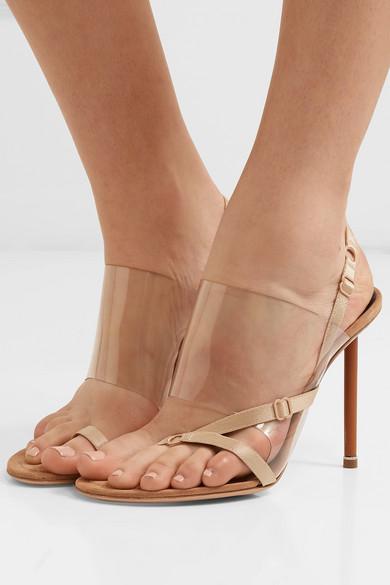 7b1c007c2a3 Alexander Wang   Kaia PVC and suede slingback sandals   NET-A-PORTER.COM