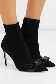 Andie Bow nubuck-paneled suede ankle boots