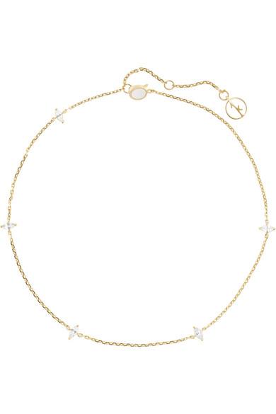 Anissa Kermiche - 14-karat Gold Sapphire Anklet