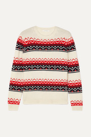 Fair Isle cashmere and wool-blend sweater