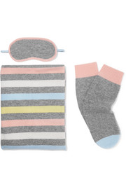 Chinti and Parker Striped cashmere travel set