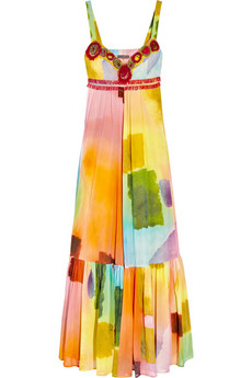 Easton Pearson printed multi-coloured maxi dress