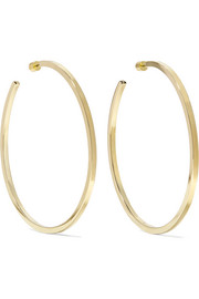 Shane gold-plated hoop earrings
