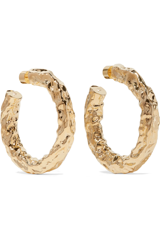 Jennifer Fisher Maeve gold-plated hoop earrings