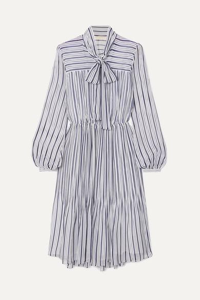 f5f9f4fc838f MICHAEL Michael Kors | Carolina striped gauze midi dress | NET-A ...