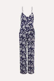 Tossed floral-print georgette jumpsuit