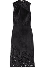 Kiana velvet and lace dress