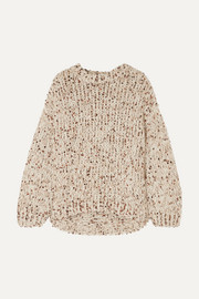 Sequined chunky-knit sweater
