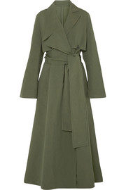 RŪH Oversized cotton and silk-blend trench coat