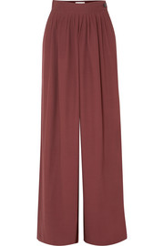 RŪH Pleated cady wide-leg pants
