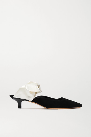 The Row | Veloursleder Coco Mules aus Veloursleder | und Satin a9e2cb