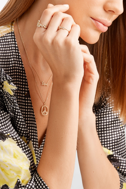 Sydney Evan Large Love 14-karat gold diamond ring