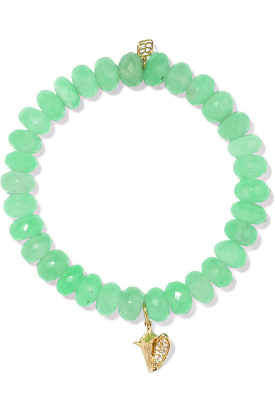 Sydney Evan - Shell Chrysoprase, Diamond And 14-karat Gold Bracelet