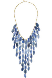 18-karat gold kyanite necklace