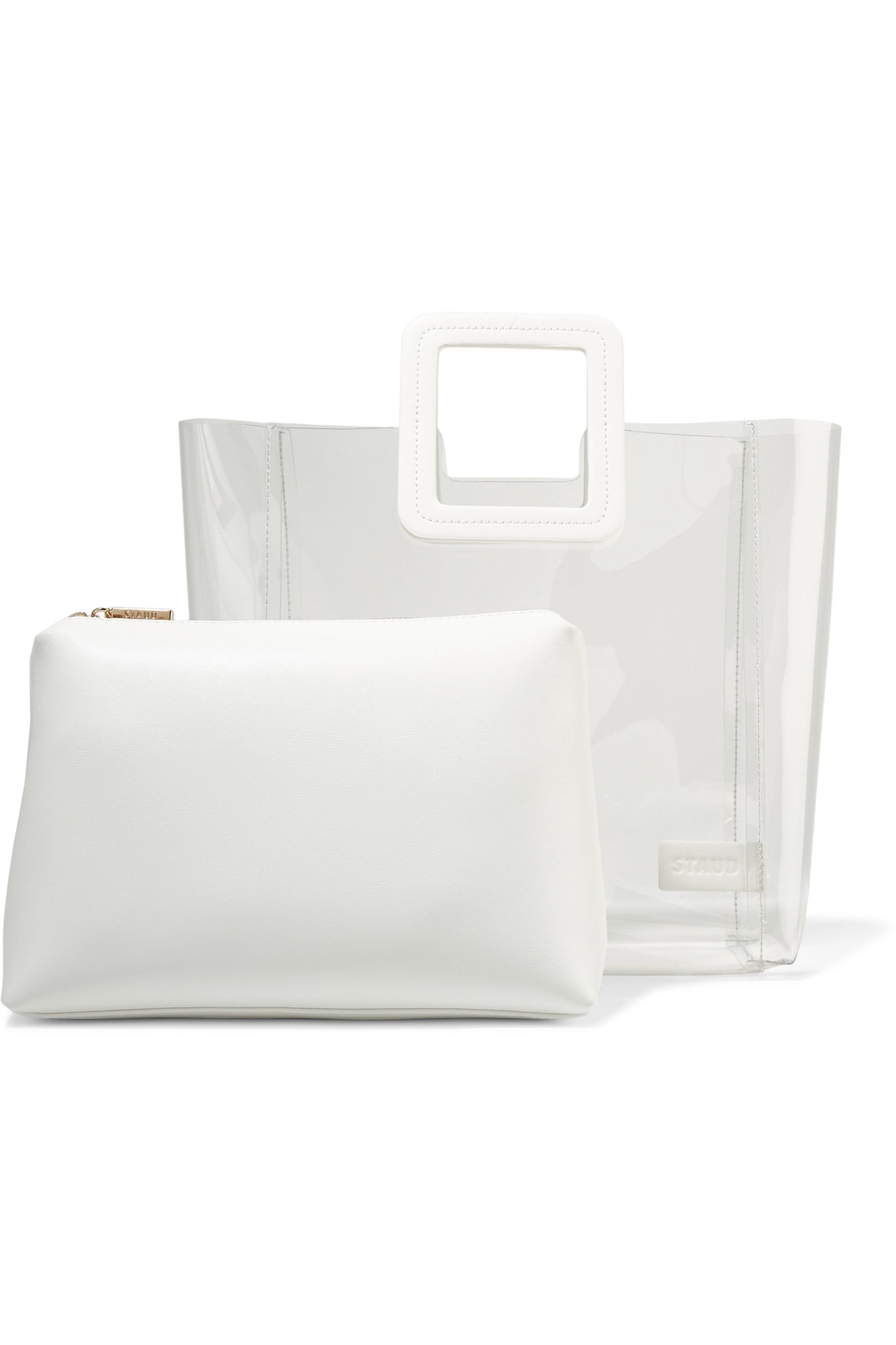 STAUD Shirley PVC and leather tote