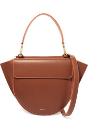 Hortensia medium neon-trimmed leather shoulder bag