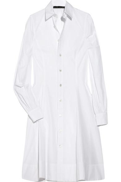 07f59cf91f Ralph Lauren Black Label. Hilda cotton-poplin shirt dress
