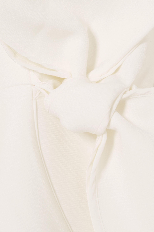 Roksanda Kemi bow-embellished satin-trimmed crepe blouse