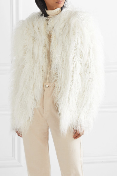 HOUSE OF FLUFF Faux Fur Coat in White
