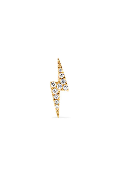 Maria Tash Lightning Bolt 18 Karat Gold Diamond Earring Net A Porter Com