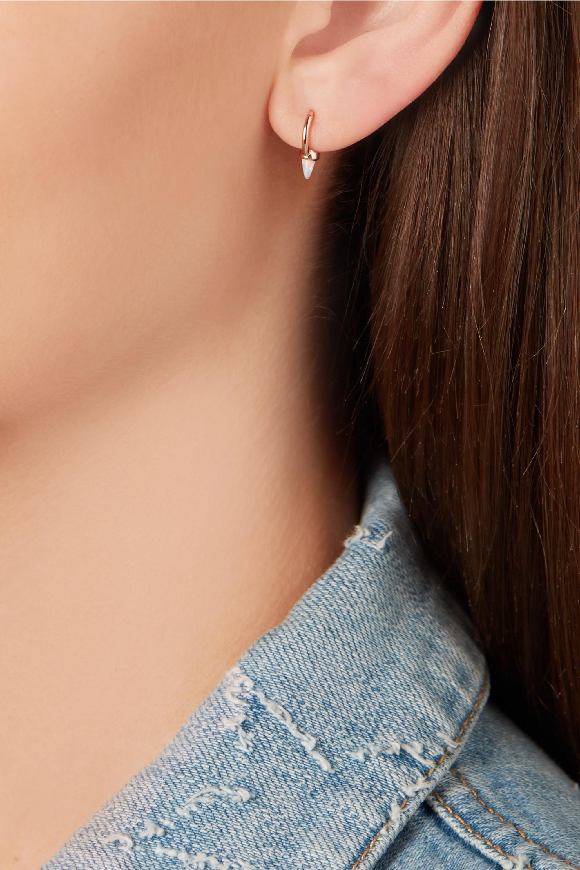 MARIA TASH 14-karat rose gold opal hoop earring