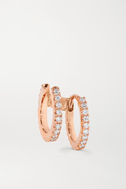 Maria Tash 6.5mm 18-karat rose gold diamond earring