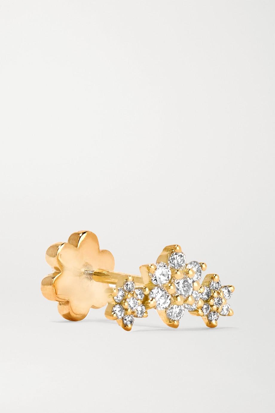 Maria Tash Flower Garland 3 mm Ohrring aus 18 Karat Gold mit Diamanten