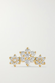 Maria Tash Flower Garland 3mm 18-karat gold diamond earring