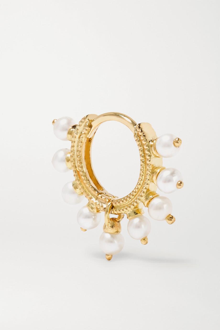 Maria Tash Boucle d'oreille en or 14 carats et perles 6,5 mm