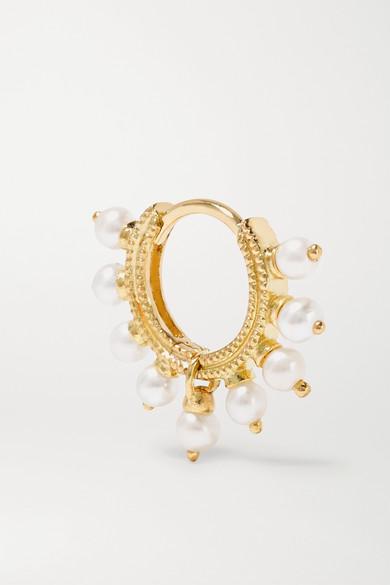Maria Tash 6 5mm 14 Karat Gold Pearl Earring Net A Porter Com
