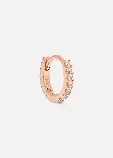 Maria Tash Mini 18-karat rose gold diamond earring