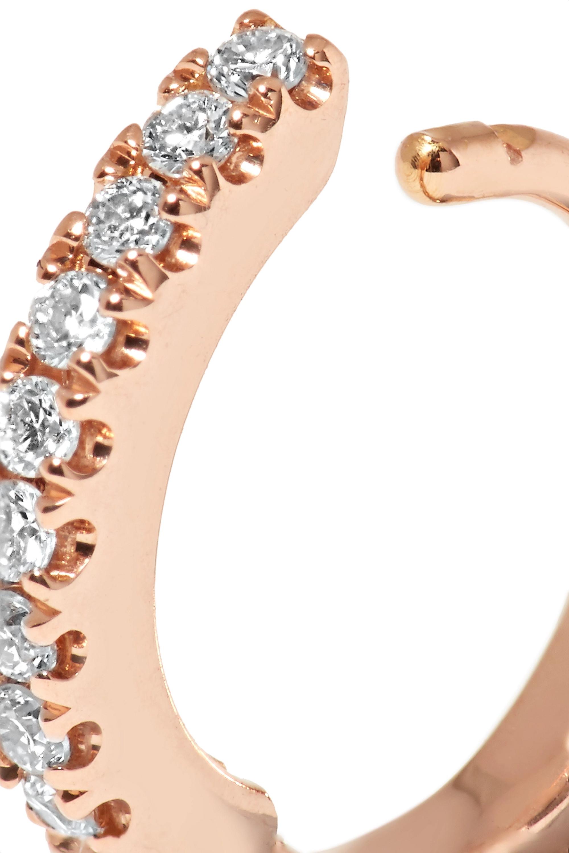 Maria Tash 6.5mm 18-karat rose gold diamond hoop earring