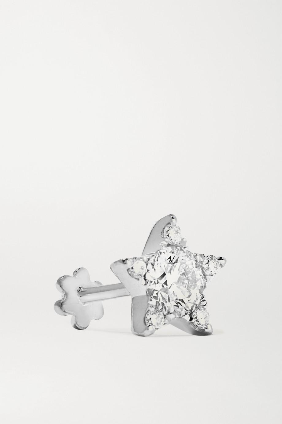 Maria Tash 7mm 18-karat white gold diamond earring