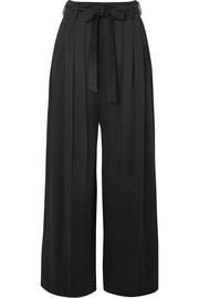 Valentino Hammered-satin pants