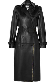 Valentino Studded leather trench coat