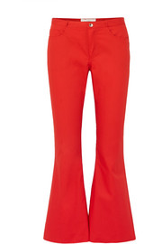 Flared drill pants