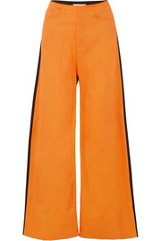 EXCLUSIVE two-tone drill boyfriend pants