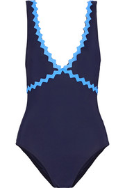 Karla Colletto New Wave appliquéd swimsuit